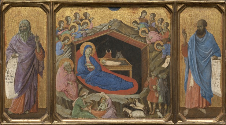 Nativity with Isaiah and Ezekiel by Duccio
