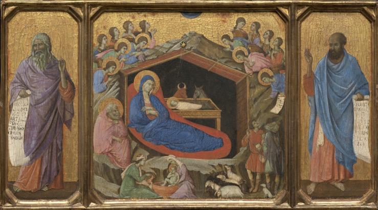 Nativity with Isaiah and Ezekiel by Duccio