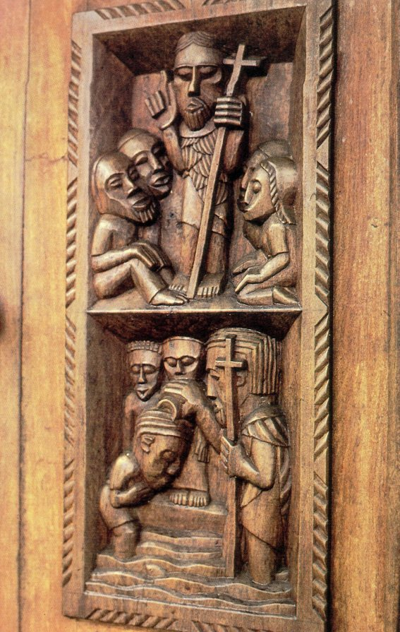 Serima Mission Church door (detail)