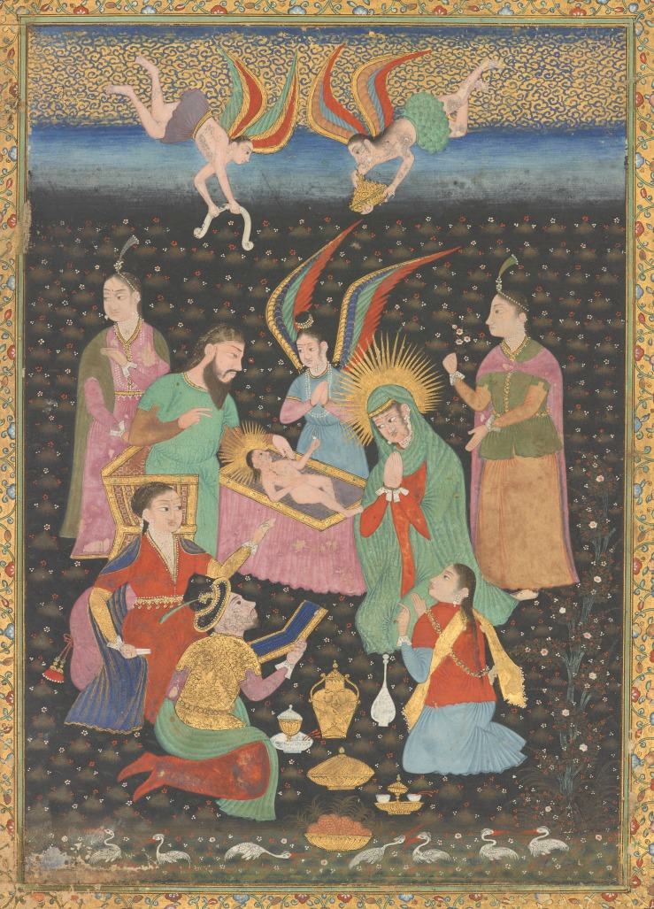 Adoration of the Christ Child (India, 17th c)