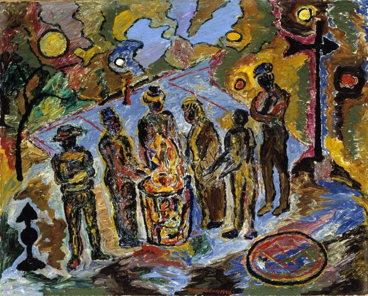 Can Fire in the Park by Beauford Delaney