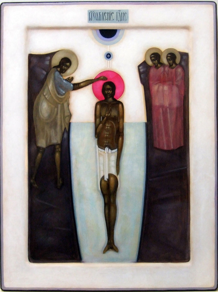 Baptism of Christ by Greta Leśko