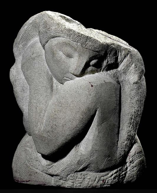 Woman's Head by Moissaye Marans