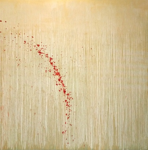 Gold Morning with Roses by Pat Steir
