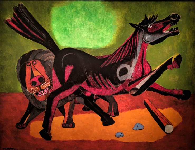 Lion and Horse by Rufino Tamayo