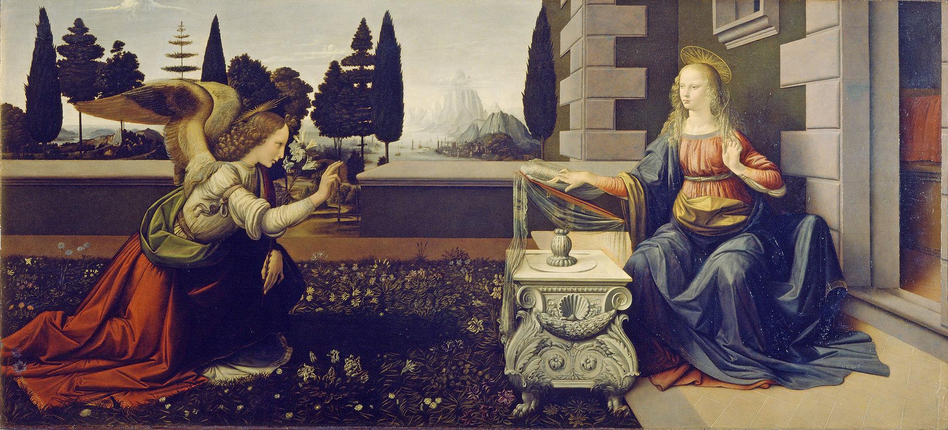 Annunciation by Leonardo da Vinci
