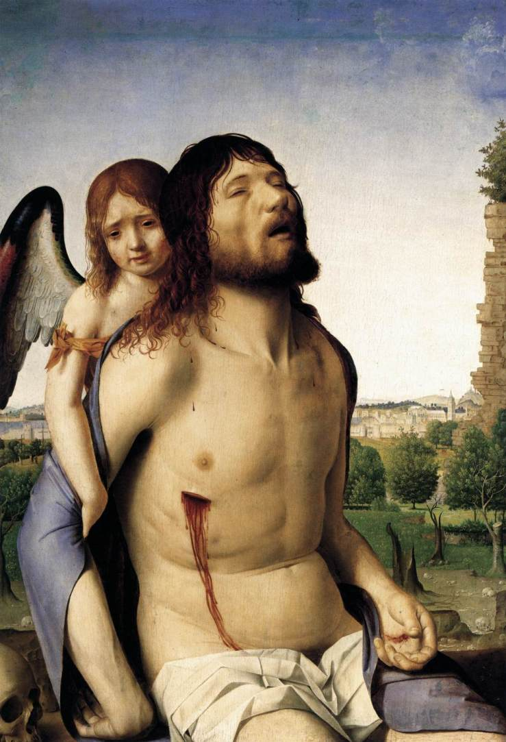 Dead Christ Supported by an Angel by Antonello da Messina