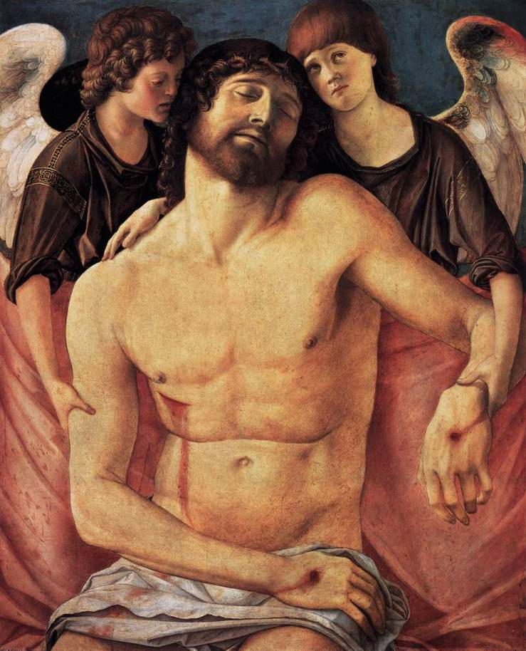 Dead Christ Supported by Angels by Giovanni Bellini