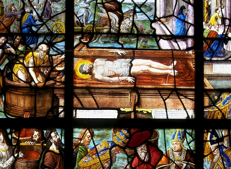 Christ in the Winepress (stained glass)