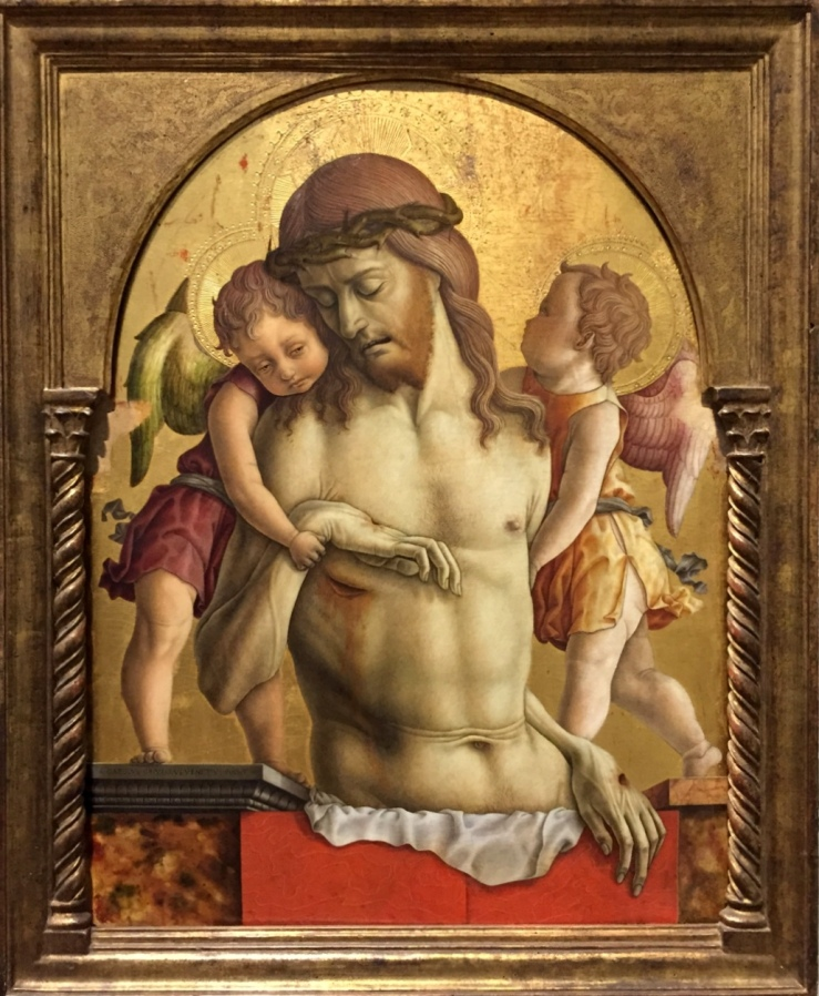Dead Christ Supported by Two Angels by Carlo Crivelli