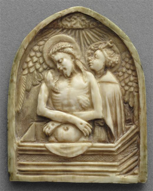 Dead Christ Supported by Angel (ivory)