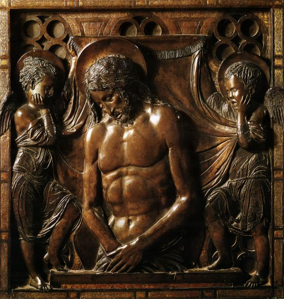 Dead Christ Supported by Angels by Donatello