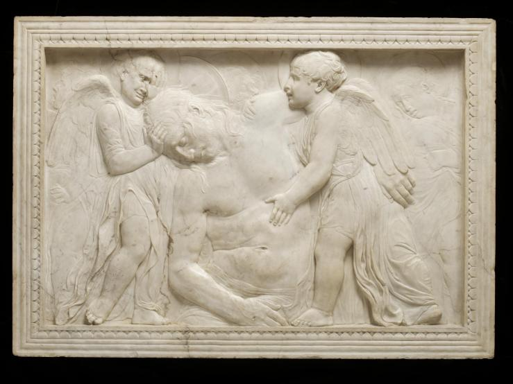 Dead Christ Tended by Angels by Donatello