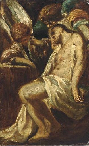 Pieta by Circle of Alessandro Magnasco