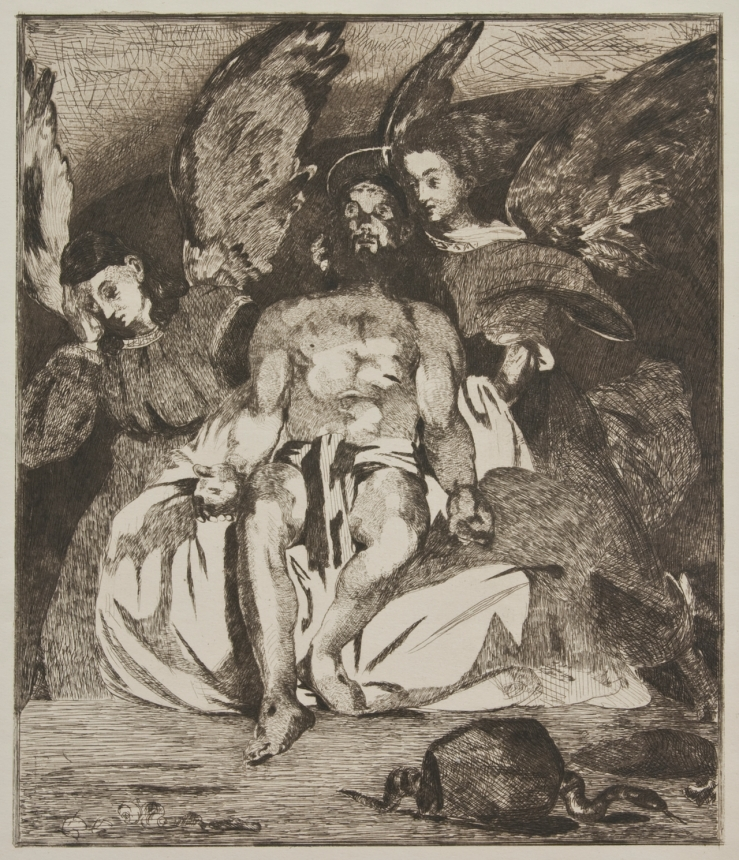 Dead Christ with Angels by Edward Manet