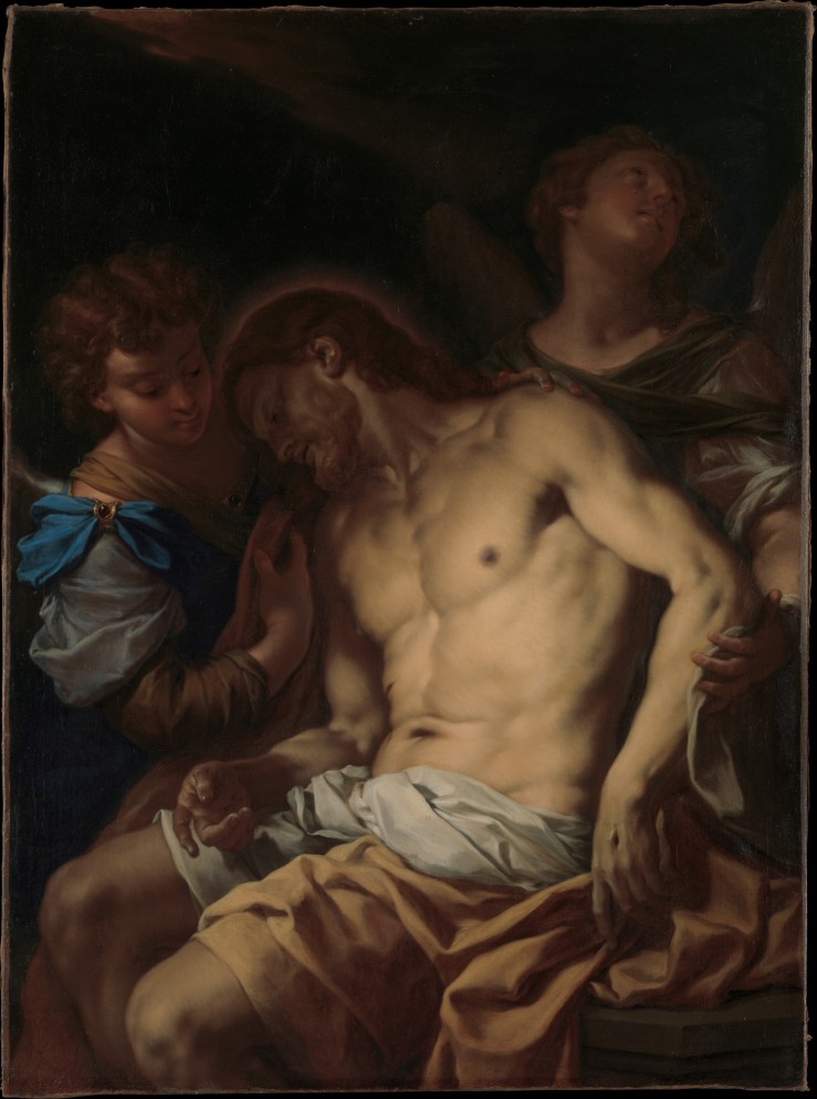 Dead Christ Supported by Angels by Francesco Trevisiani