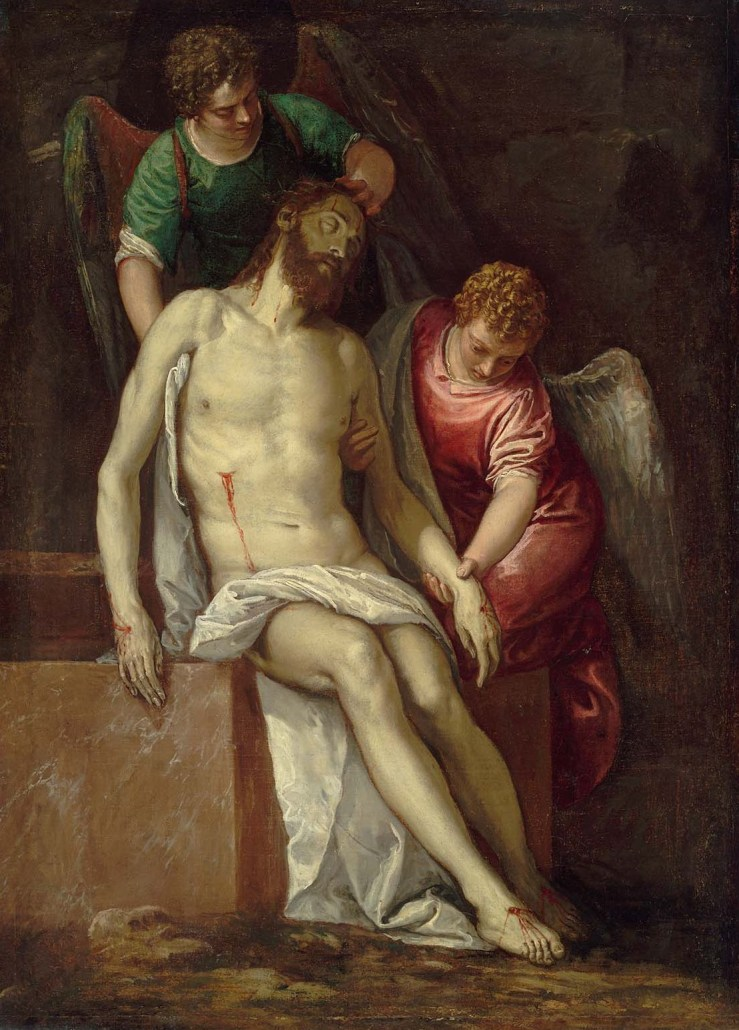 Dead Christ Supported by Angels by Paolo Veronese