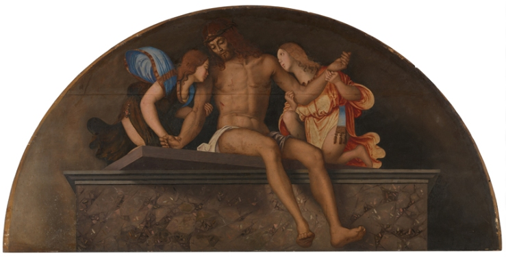 The Dead Christ with Angels by Francesco Zaganelli