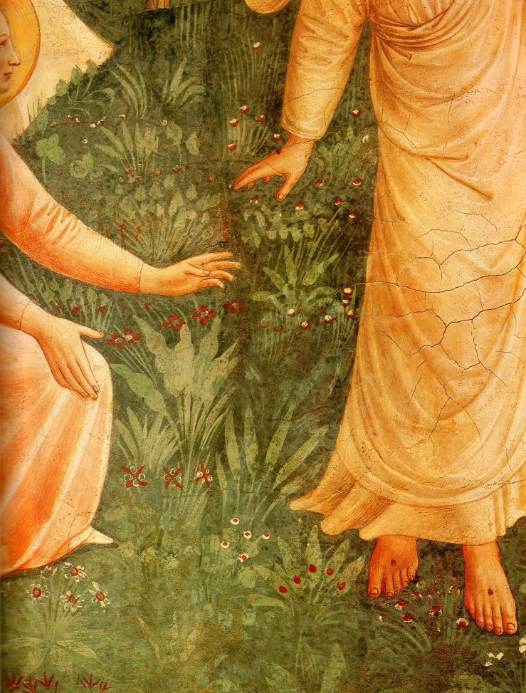 Noli me tangere (detail) by Fra Angelico