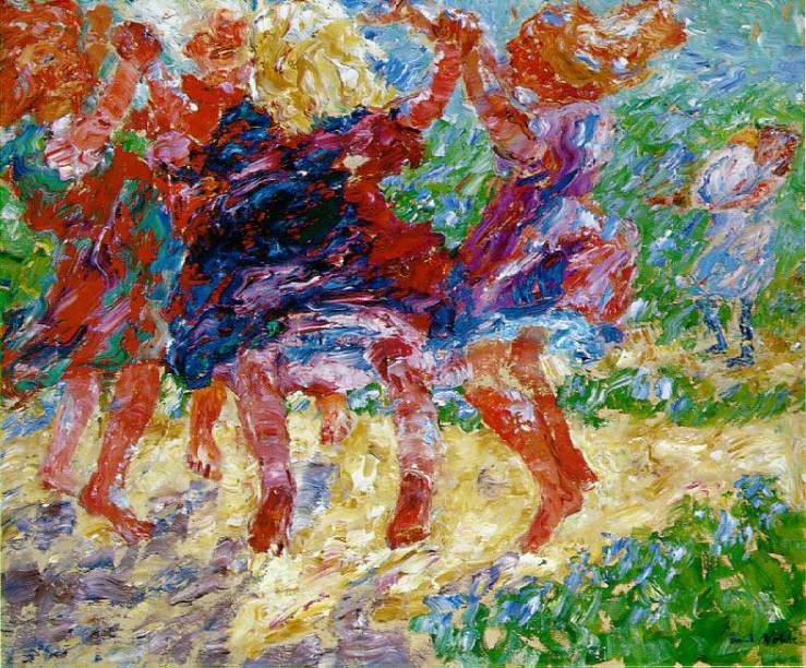 Wildly Dancing Children by Emil NOlde
