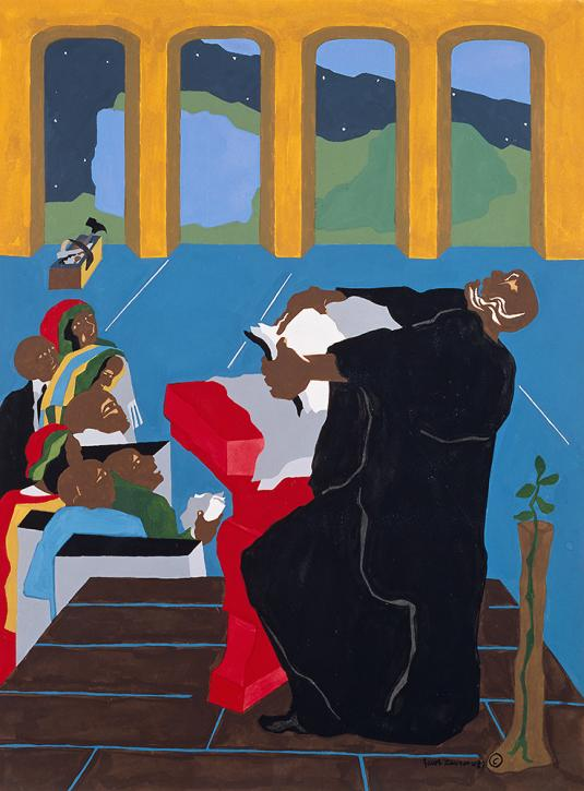 Sermon IV (God Created Day and Night) by Jacob Lawrence