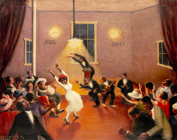 Tongues (Holy Rollers) by Archibald Motley Jr.