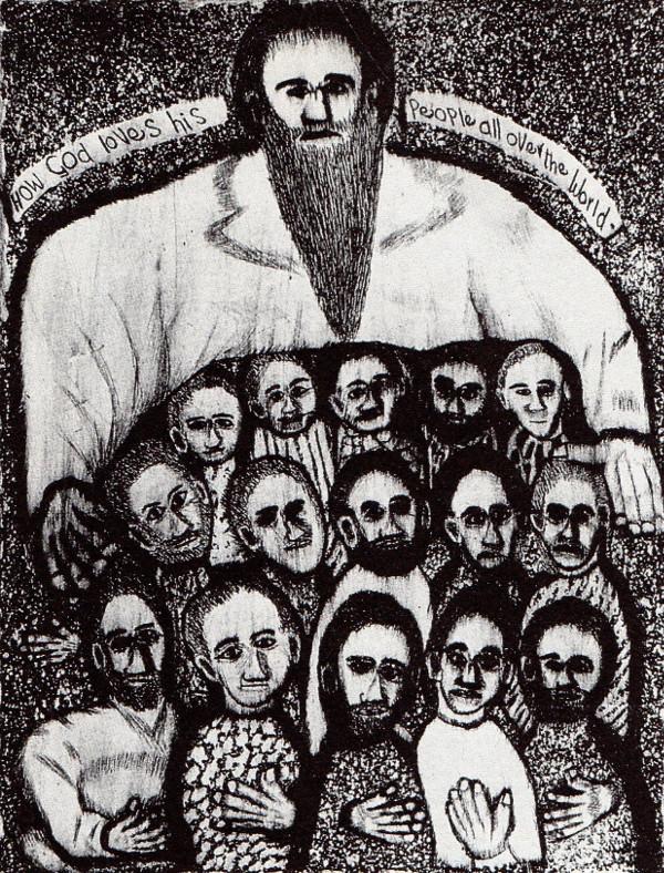 How God loves his people by John Muafangejo