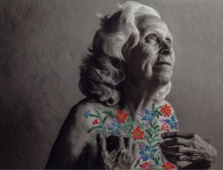 Embroidered photograph by Aline Brant