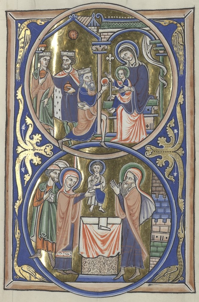 Adoration of the Magi and Presentation (Sainte-Chapelle Psalter)