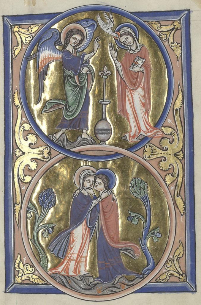 Annunciation and Visitation (Sainte-Chapelle Psalter)