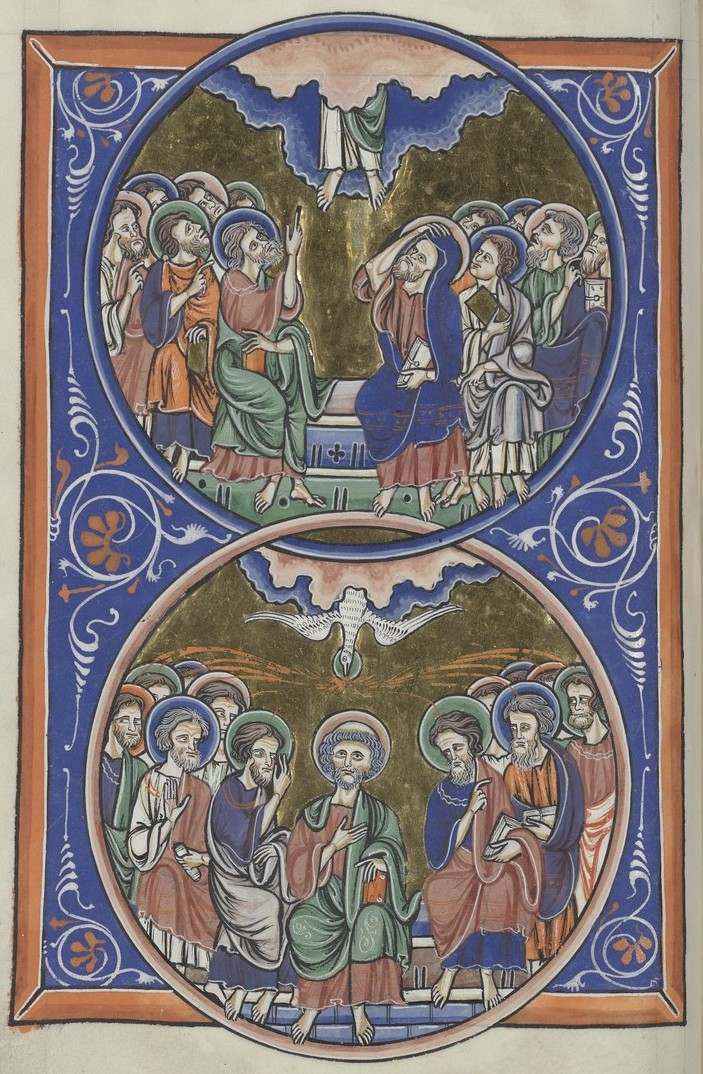 Ascension and Pentecost (Sainte-Chapelle Psalter)