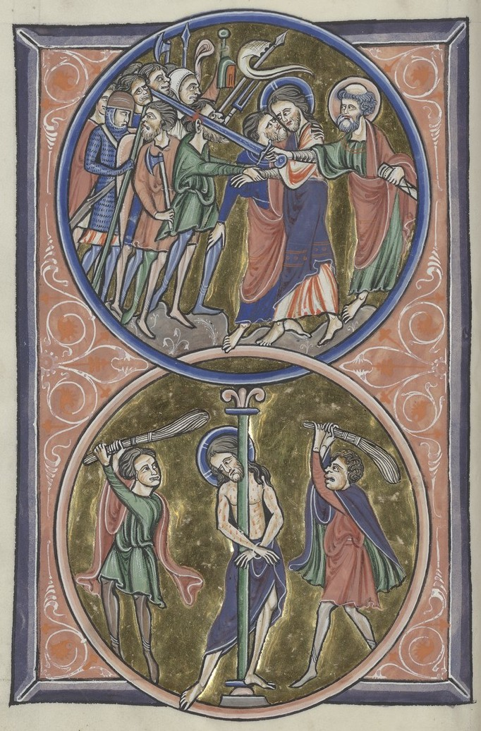 Betrayal and Flogging (Sainte-Chapelle Psalter)