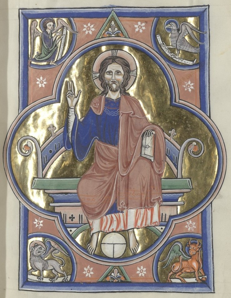 Christ Enthroned (Sainte-Chapelle Psalter)