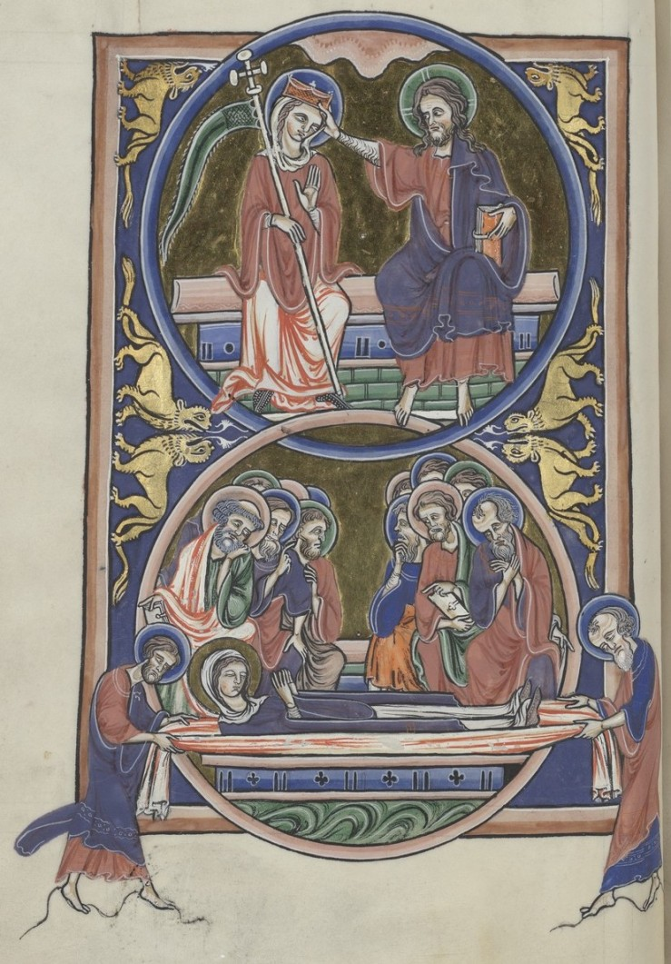 Coronation and Death of the Virgin (Sainte-Chapelle Psalter)