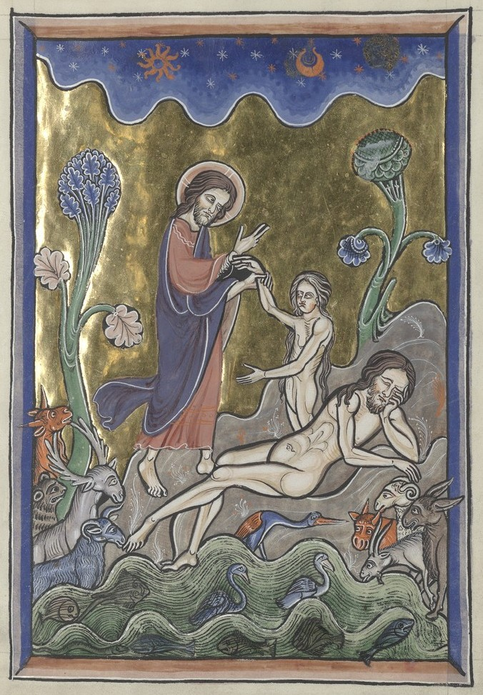 Creation of Eve (Sainte-Chapelle Psalter)
