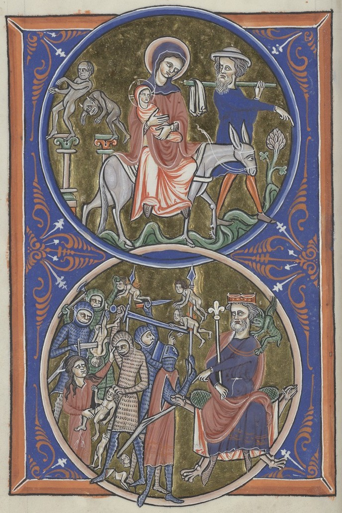 Flight to Egypt and Massacre (Sainte-Chapelle Psalter)
