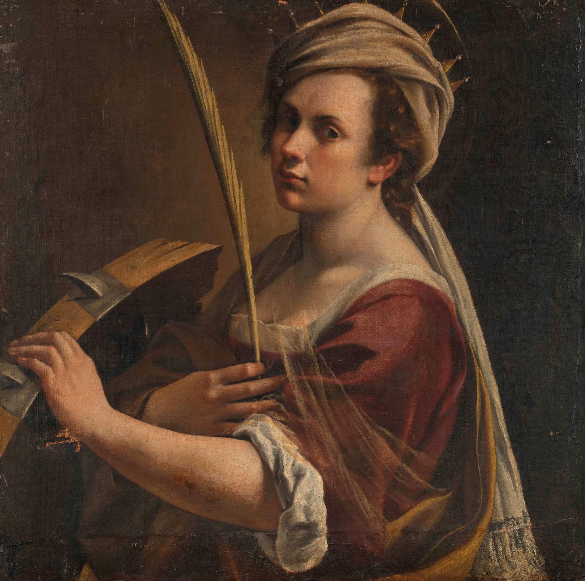 Self-Portrait as Saint Catherine of Alexandria by Artemisia Gentileschi