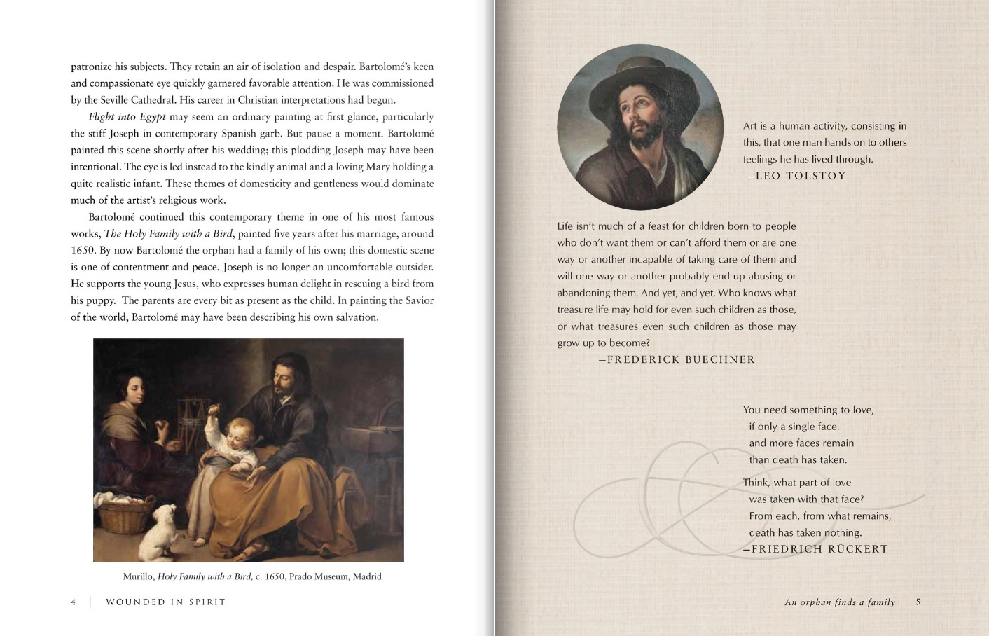 Wounded in Spirit excerpt (Bartolome Murillo)