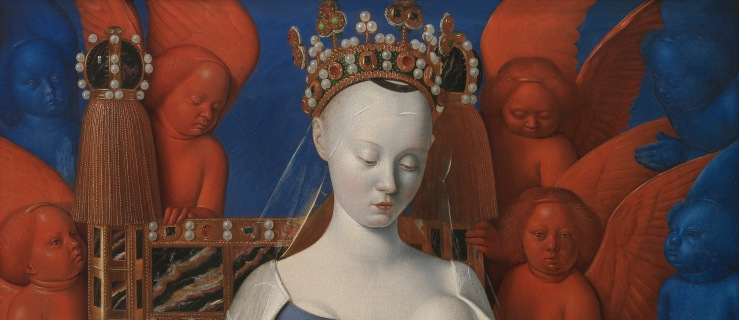 Madonna and Child (detail) by Jean Fouquet