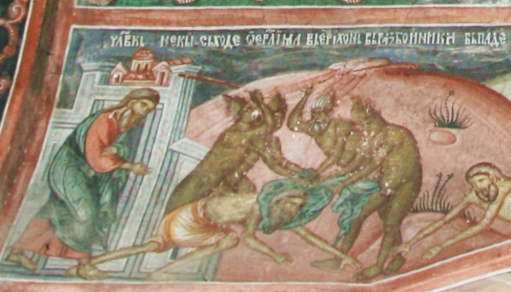 Good Samaritan fresco (Balkans) (detail)