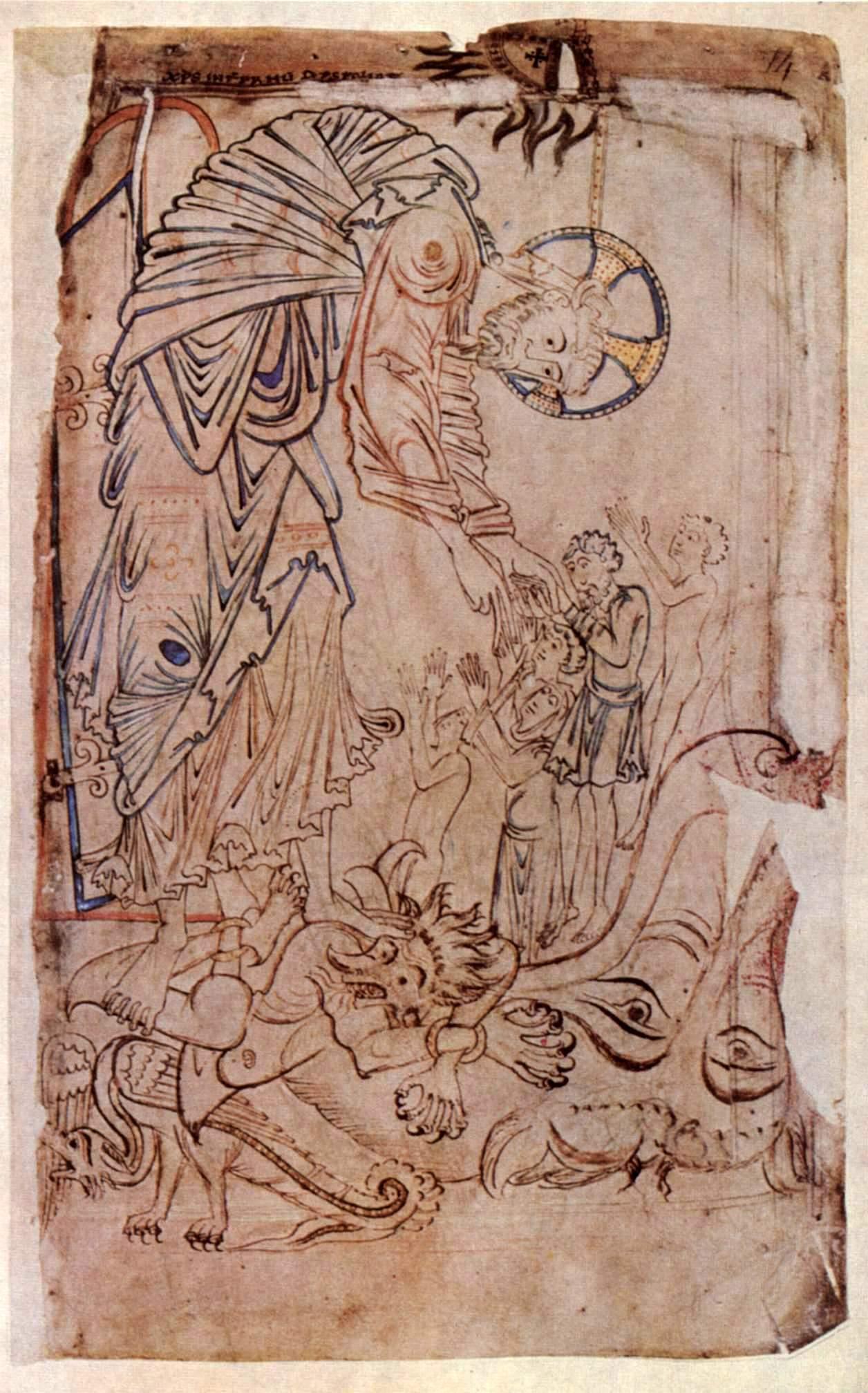 Harrowing of Hell (Tiberius Psalter)