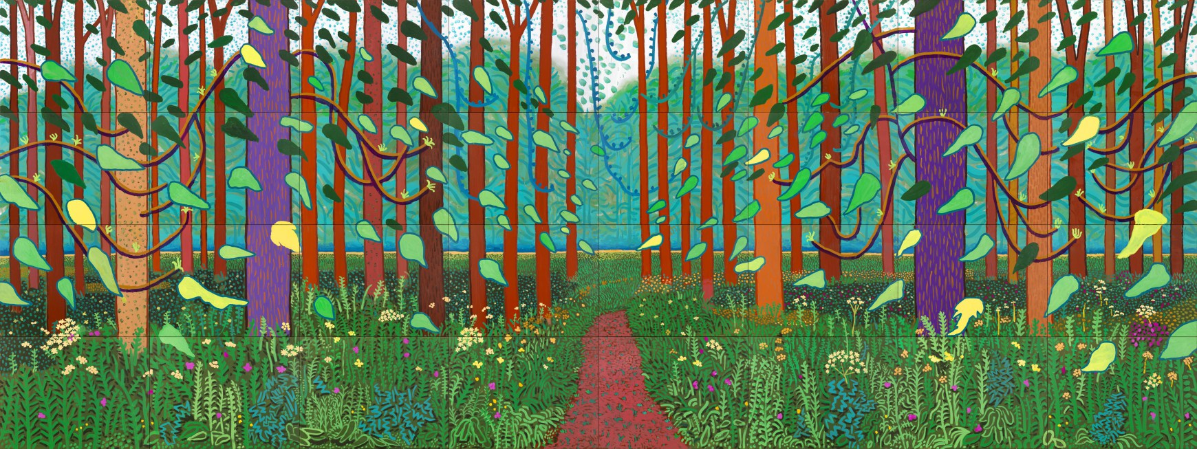 The Arrival of Spring in Woldgate, East Yorkshire, in 2011 by David Hockney