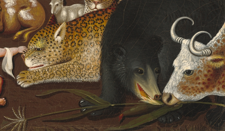 The Peaceable Kingdom (detail) by Edward Hicks