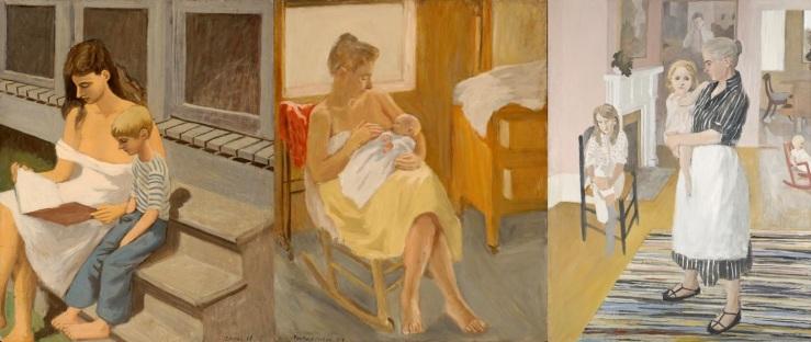 Motherhood paintings by Fairfield Porter