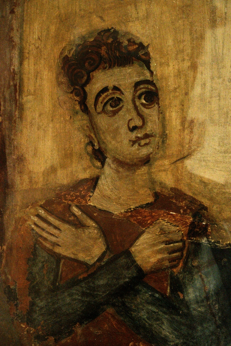 Praying Youth (early medieval fresco)