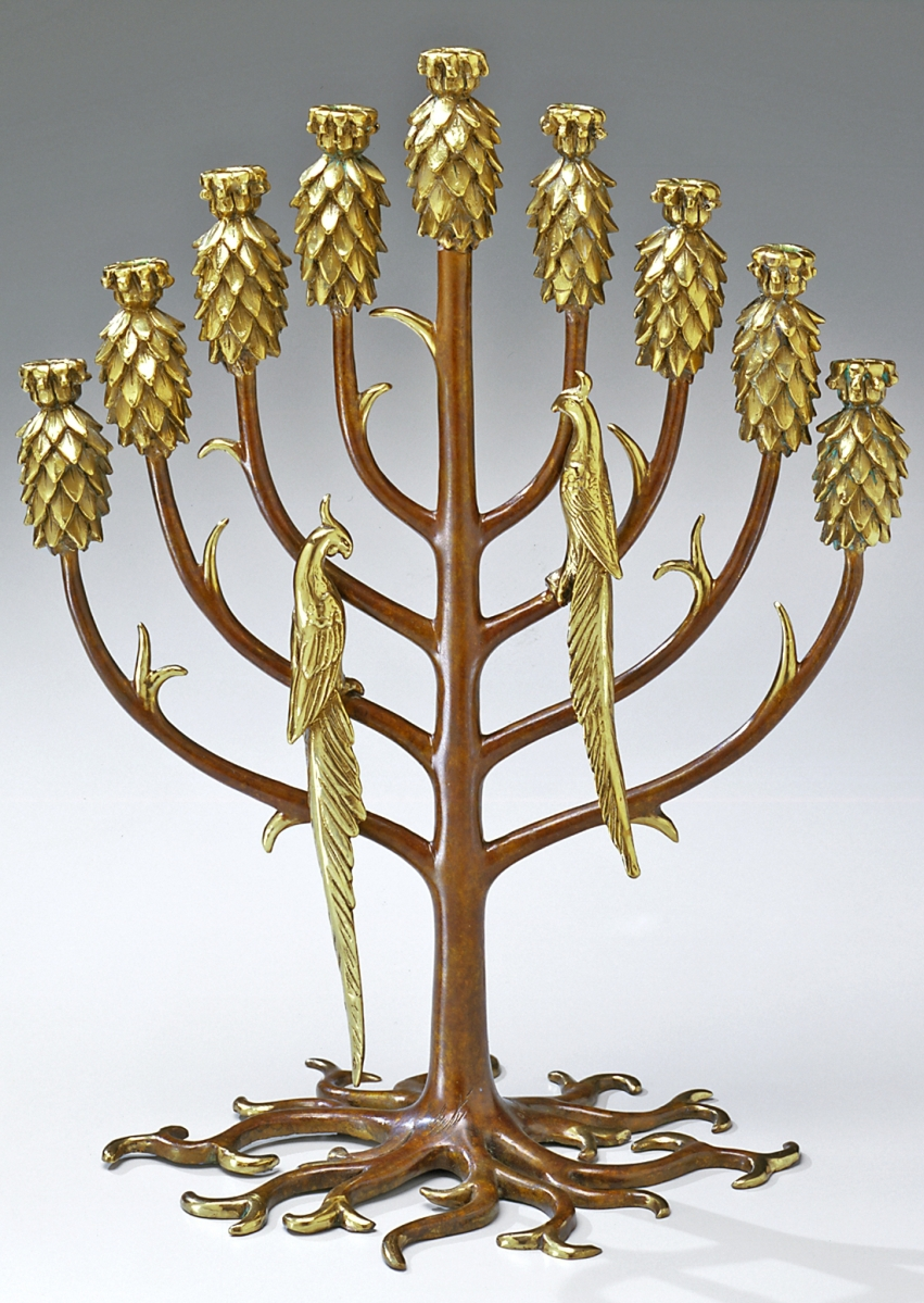Erte_Tree of Life (menorah)