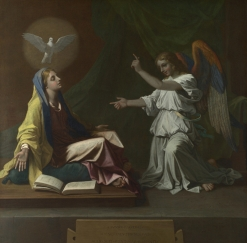 Annunciation by Nicolas Poussin