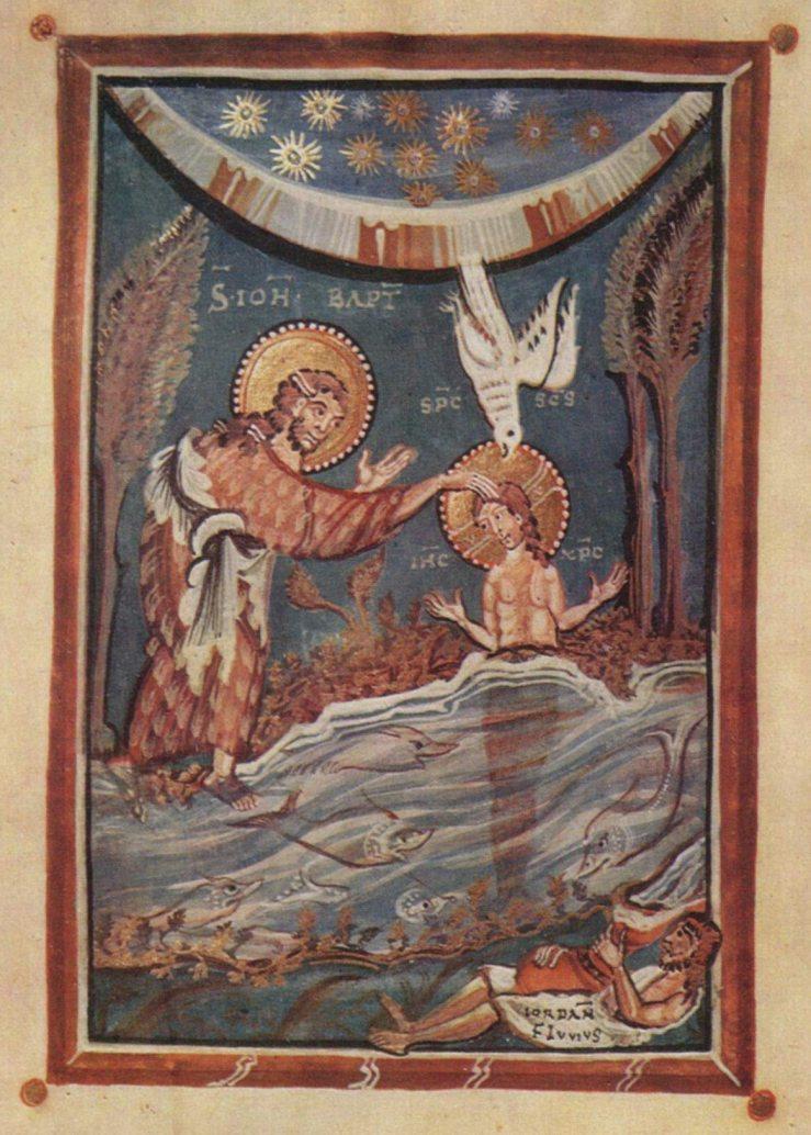 Baptism of Christ (Hitda Codex)
