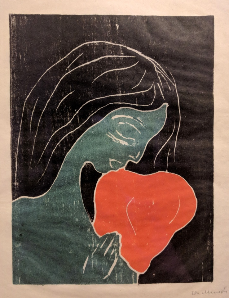 Girl with the Heart by Edvard Munch