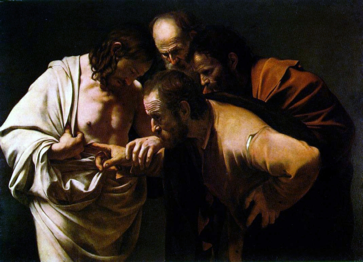 Caravaggio_Incredulity of Thomas